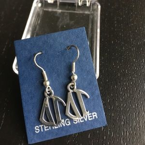 Delta Gamma sterling silver earrings